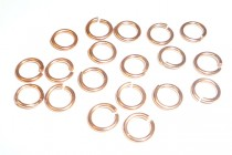 Jump ring, Open, shiny copper, round, 20 gauge.
