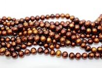 Potato Freshwater Pearls - Copper - A Grade