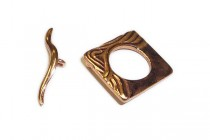 Copper Over Brass Toggle Clasp, Waves, 15mm-JBB Findings