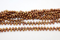 Top-Drilled Freshwater Pearls - Copper - A Grade