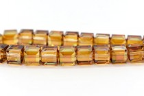 Copper 5601 Swarovski Elements Crystal Cube Beads - 4mm
