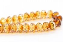 Crystal Copper 5040 Swarovski Elements Crystal Faceted Briolette ( Rondelle ) Bead