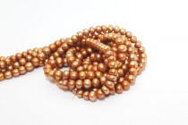 Button Freshwater Pearls - Copper Peacock - A Grade
