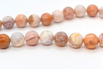 Crab Fire Agate , Treated, Round Gemstone Beads