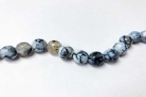 Agate,Crackle effect w/ white, Dyed,Faceted Disco Ball Cut Round Gemstone Beads