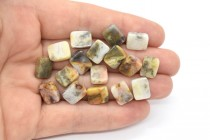Crazy Lace Agate (Natural) Flat Rectangle Gemstone Beads