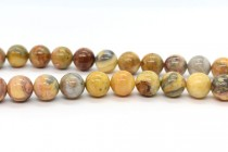 Crazy Lace Agate (Natural) Smooth Round Gemstone Beads