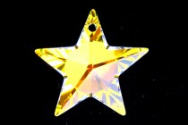 Crystal AB,Drop, Swarovski crystals, 20x19mm faceted star pendant (6714).