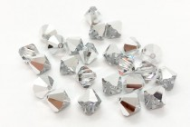Crystal Comet Argent Light Swarovski Crystal Bicone Beads 5301/5328
