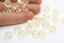 Crystal Champagne Swarovski Crystal Bicone Beads 5301/5328 3mm - Sale