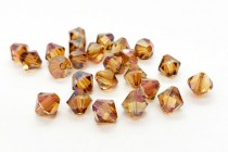 Crystal Copper Swarovski Crystal Bicone Beads 5301/5328