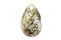 Crystal Gold Patina,, Drop, Swarovski crystal faceted pear pendant (6106).