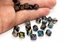 Crystal Heliotrope Swarovski Crystal Bicone Beads 5328/5301