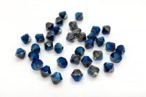 Crystal Metallic Blue Swarovski Crystal Bicone Beads 5301/5328