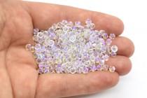 Crystal Shimmer 2x Swarovski Crystal Bicone Beads 5328