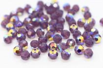 Cyclamen Opal AB Swarovski Crystal Round Beads 5000