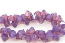 Cyclamen Opal Swarovski Crystal Top Drilled Bicone Pendants 6301