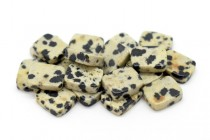 Dalmatian Jasper (Natural) Flat Rectangle Gemstone Beads