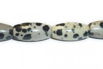 Dalmatian Jasper (Natural) Oval/Rice Gemstone Beads - Large Hole (Sale)