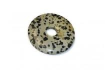 Dalmatian Jasper ( Natural ) A Grade Donut Pendant