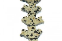 Dalmatian Jasper (Natural) Peace Dove Gemstone Beads