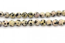 Dalmatian Jasper (Natural) Faceted Disco Cut Round Gemstone Beads