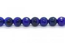 Agate (Dyed ) Faceted Disco Ball Cut Round Gemstone Beads - Blue, Dark Navy