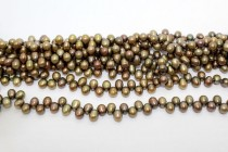 Dark Bronze (Dyed) Top Drilled Teardrop Freshwater Pearl Beads