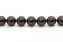 Crystal Deep Brown - Swarovski Round Pearls 5810