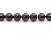 Crystal Deep Brown - Swarovski Round Pearls 5810 - Factory Pack Quantity