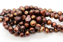 Irregular Potato Freshwater Pearls - Dark Copper - AB Grade