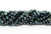 Dark Green/Teal (Dyed) Irregular Potato Freshwater Pearl Beads
