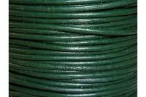 Greek Round Leather Cord - Dark Green