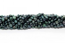 Irregular Potato Freshwater Pearls, Green Dark, A Grade