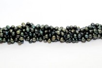 Dark Green (Dyed) Top Drilled Teardrop Freshwater Pearl Beads