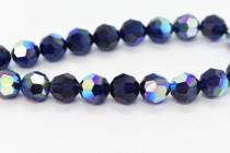 Dark Indigo AB 5000 Swarovski Crystal Round Bead