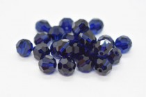 Dark Indigo Swarovski Crystal Round Beads 5000