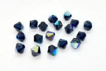 Dark Indigo AB 5301/5328 Swarovski Elements Crystal Bicone Bead