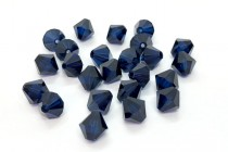 Dark Indigo 5328 Swarovski Elements Crystal Bicone Bead