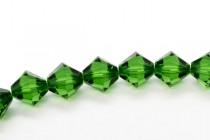Dark Moss Green 5328 Swarovski Elements Crystal Bicone Bead