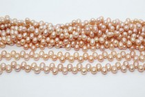 Dark Peach (Natural Color) Top Drilled Teardrop Freshwater Pearl Beads