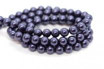 Crystal Dark Purple - Swarovski Round Pearls 5810/5811