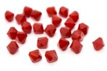 Dark Red Coral Swarovski Crystal Bicone Beads 5301/5328