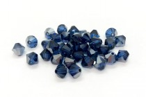 Dark Sapphire Satin 5301/5328 Swarovski Elements Crystal Bicone Bead