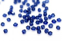 Dark Sapphire 5301 Swarovski Elements Crystal Bicone Bead