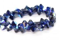 Dark Indigo AB Swarovski Crystal Top Drilled Bicone Pendants 6301