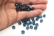 Denim Blue 5301/5328 Swarovski Crystal Bicone Bead
