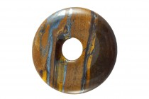 Tiger Iron (Natural) A Grade Gemstone Donut Pendant