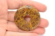 Elephant Skin Jasper (Natural) Donut Gemstone Pendant