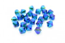 Emerald AB2x Swarovski Crystal Bicone Beads 5301 - Factory Pack Quantity